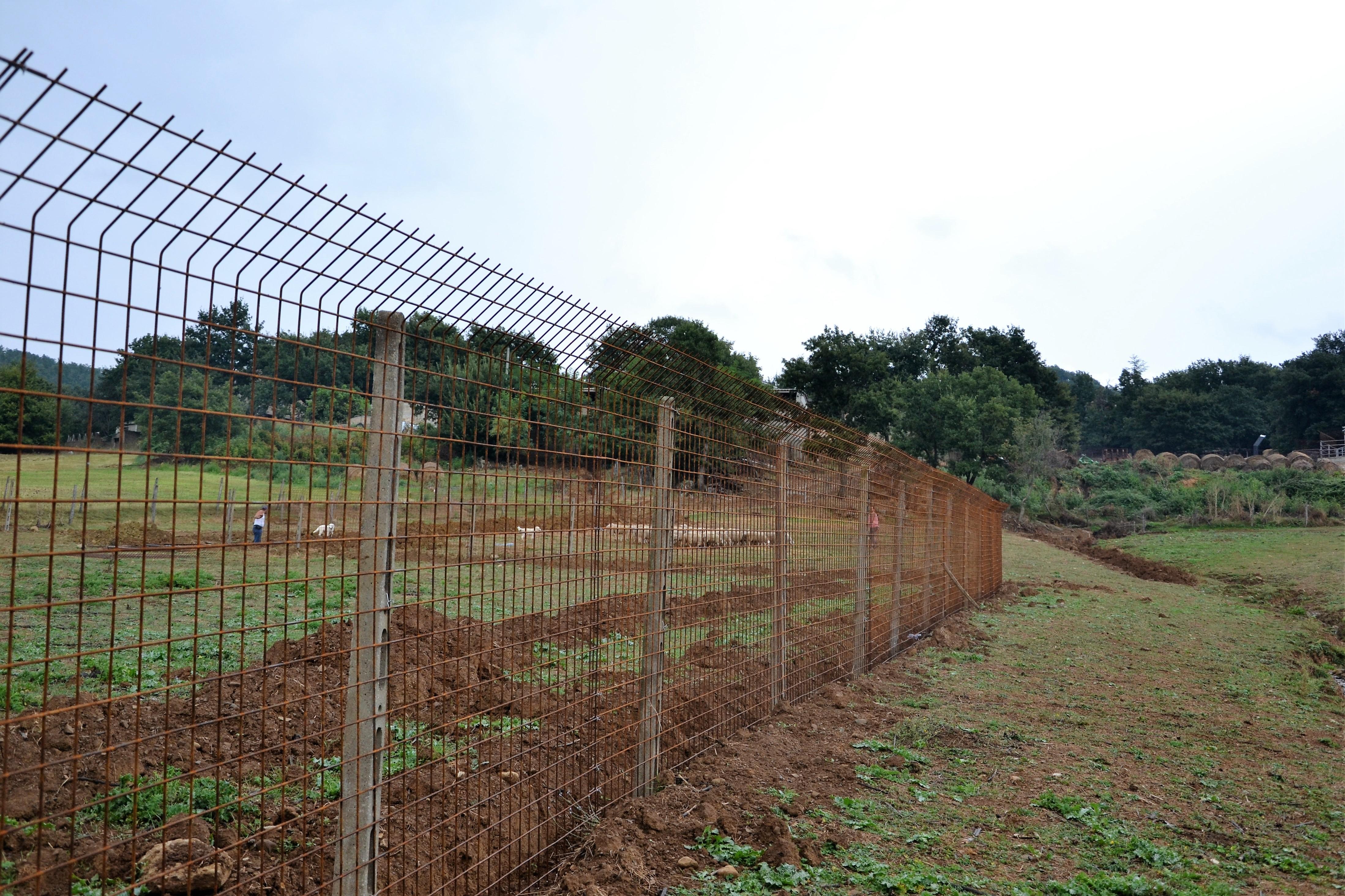 Recinzioni metalliche fisse protezione del bestiame for Pali cemento per recinzione